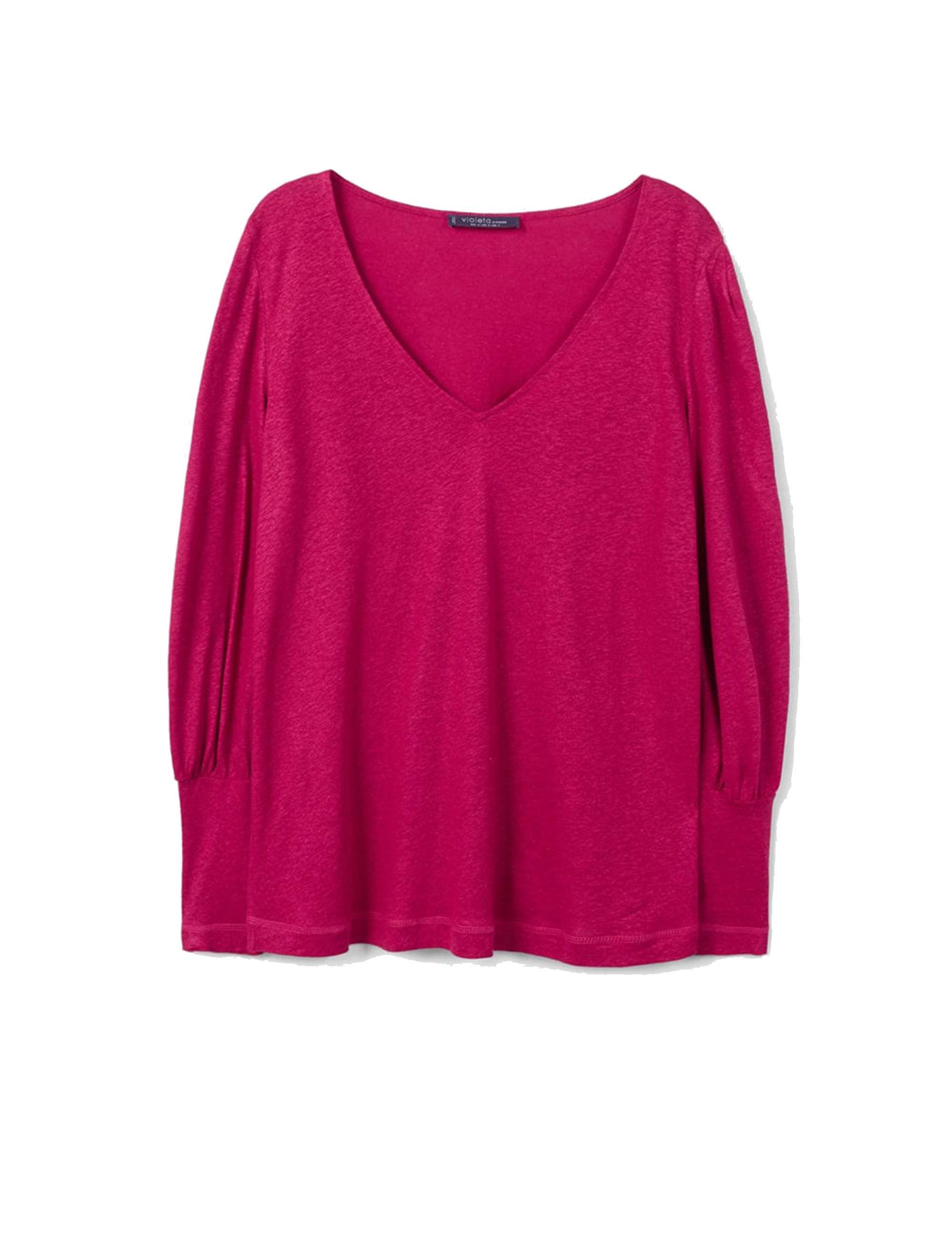 خرید تی شرت یقه هفت زنانه - ویولتا بای مانگو
