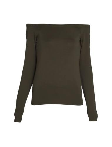 تی شرت ویسکوز یقه باز زنانه - اونلی