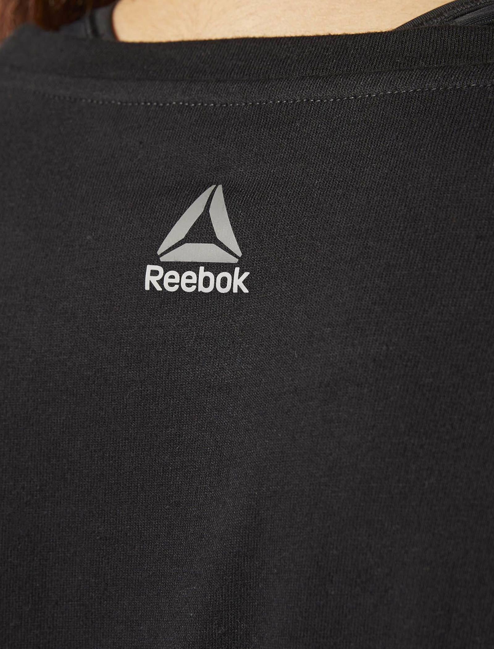 تی شرت ورزشی نخی یقه گرد زنانه Les Milles - ریباک - مشکي - 4