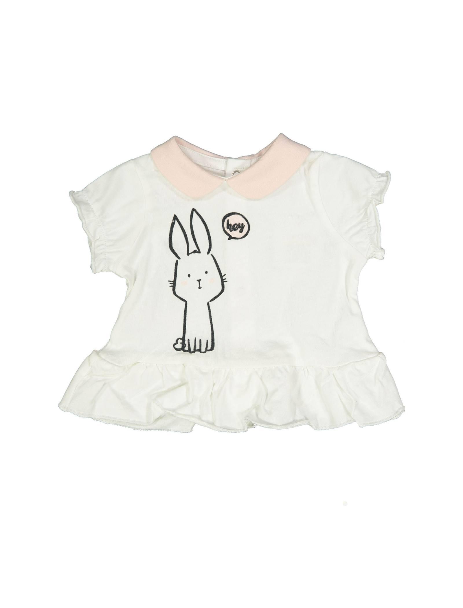 تی شرت و شلوارک نخی نوزادی دخترانه - بلوکیدز - سفيد/صورتي - 2