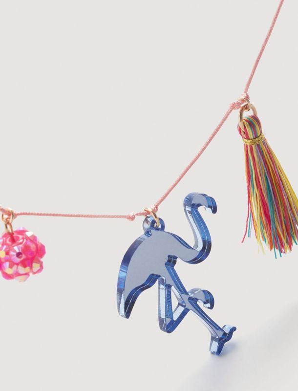 گردنبند دست ساز دخترانه - مانگو تک سایز