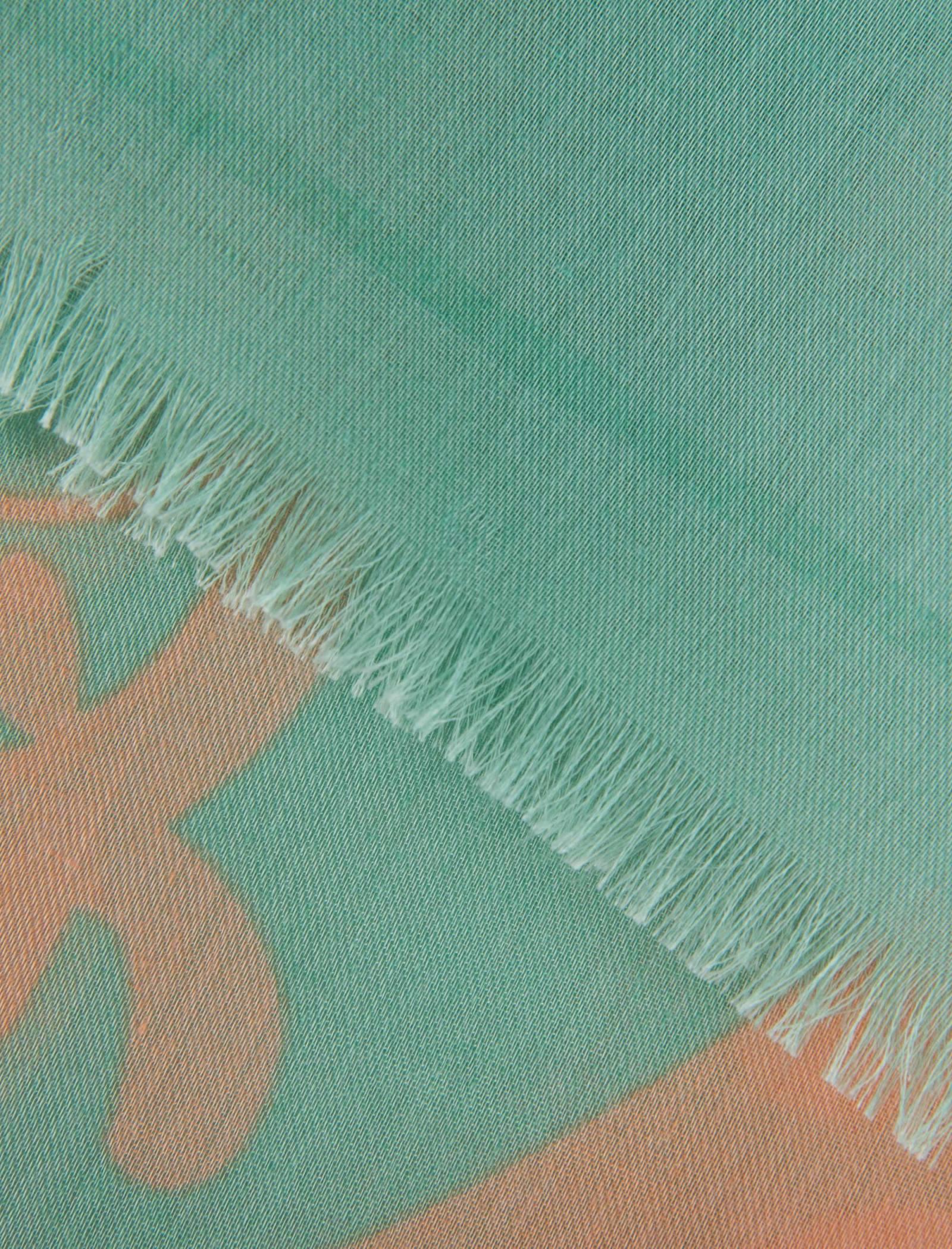 شال نخی زنانه - رزتی - گلبهي و سبز روشن - 2