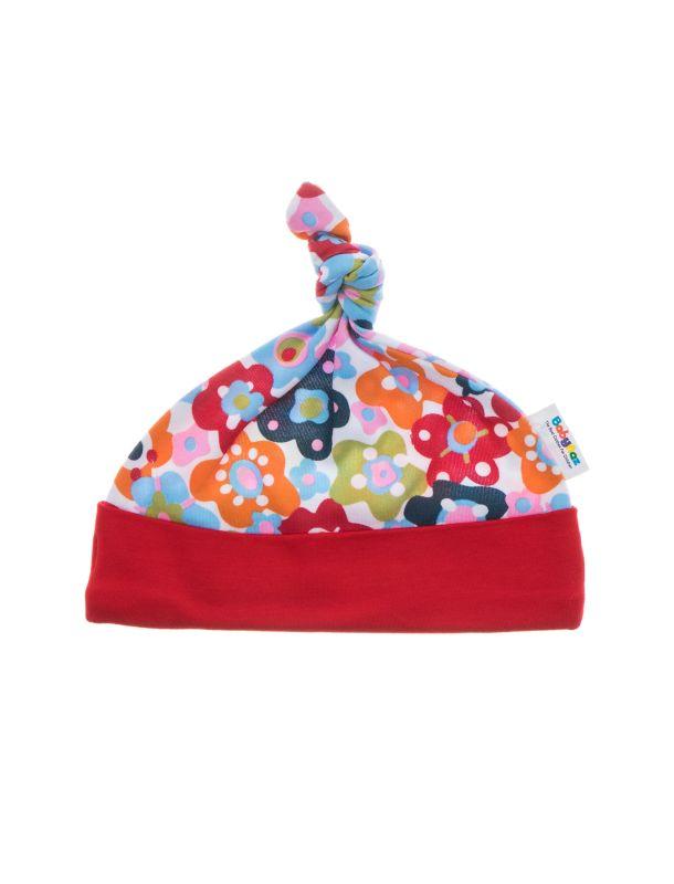 کلاه نخی طرح دار نوزادی دخترانه - بی بی ناز
