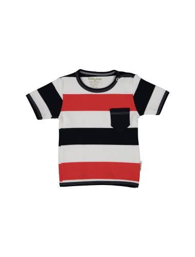 تی شرت نخی طرح دار نوزادی پسرانه - بی بی ناز