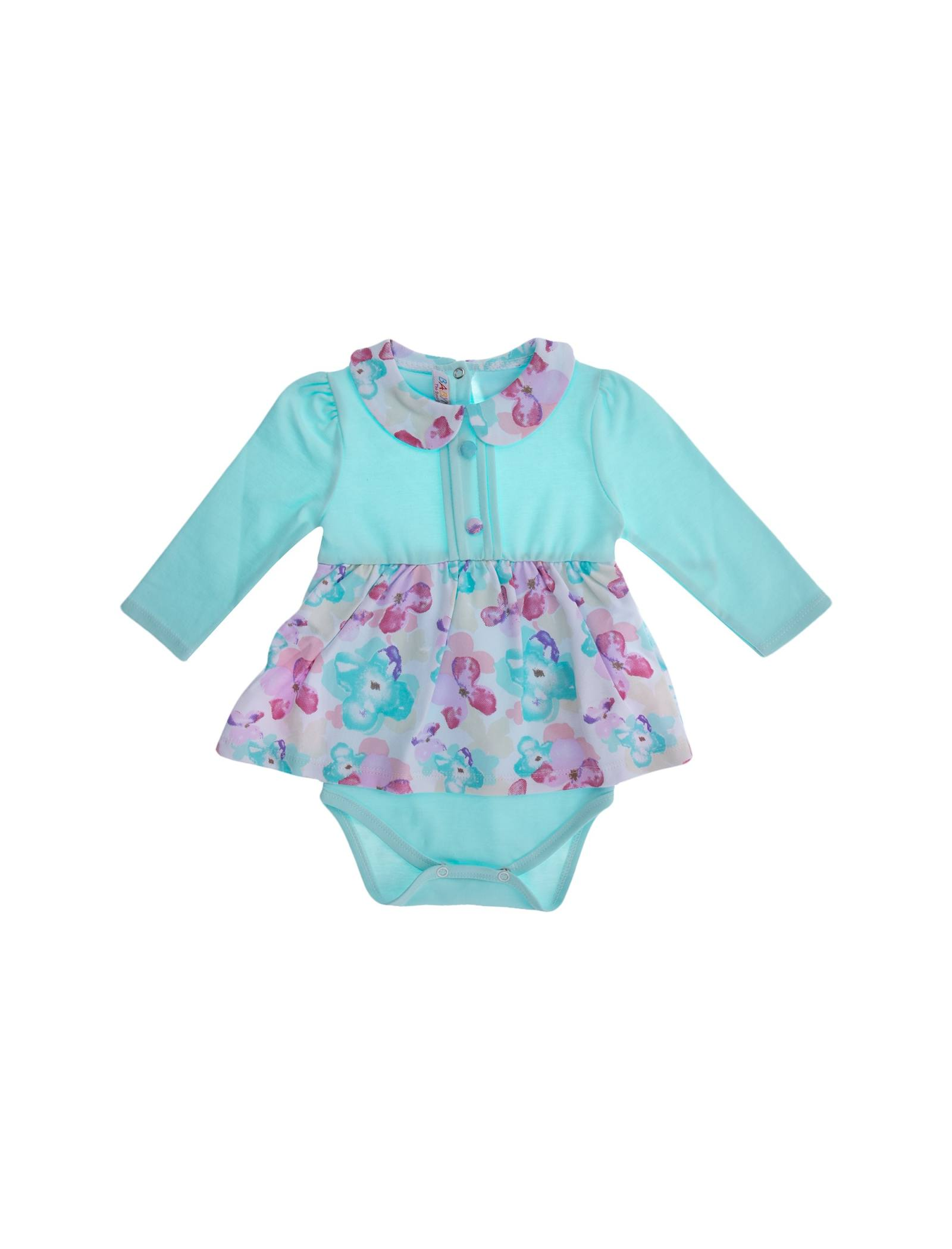 پیراهن نخی آستین بلند نوزادی دخترانه - بی بی ناز - چند رنگ - 4