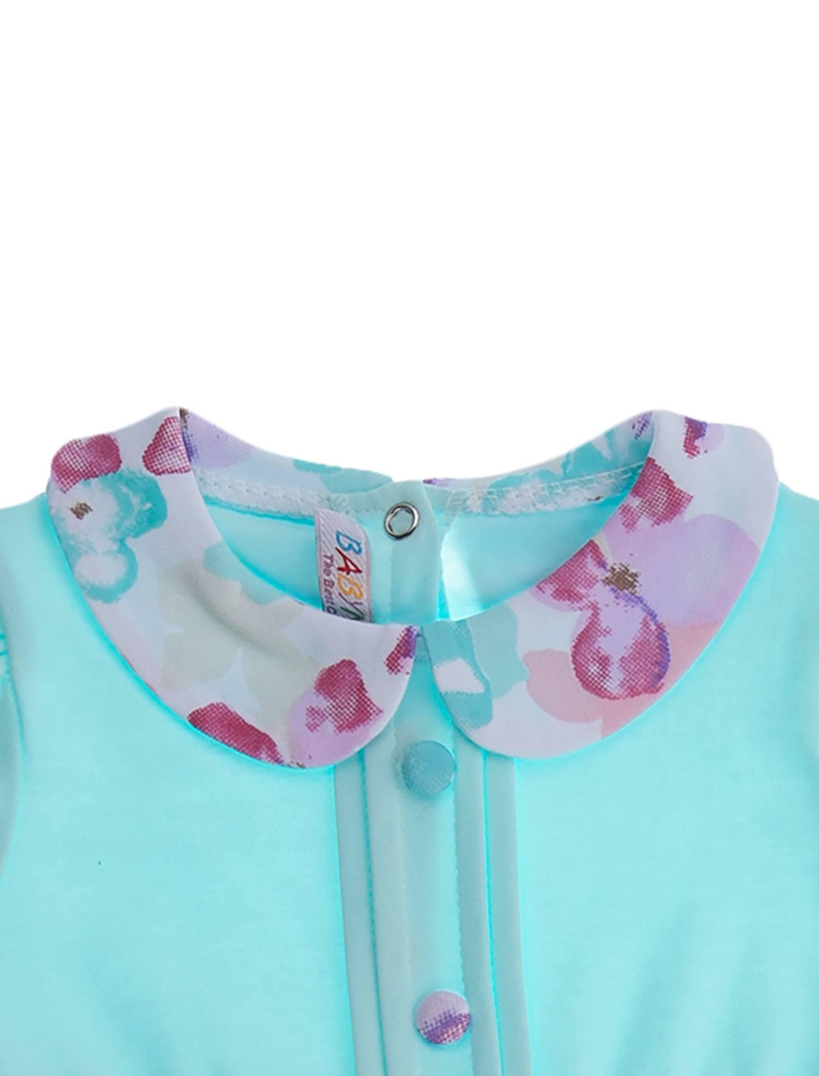 پیراهن نخی آستین بلند نوزادی دخترانه - بی بی ناز - چند رنگ - 8