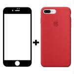 کاور سیلیکونی مدل SlC مناسب برای گوشی موبایل اپل آیفون 6/6s  به همراه محافظ صفحه نمایش 5D