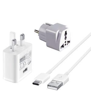 شارژر دیواری مدل EP-TA20UWE به همراه کابل تبدیل USB-C و مبدل برق تکنو