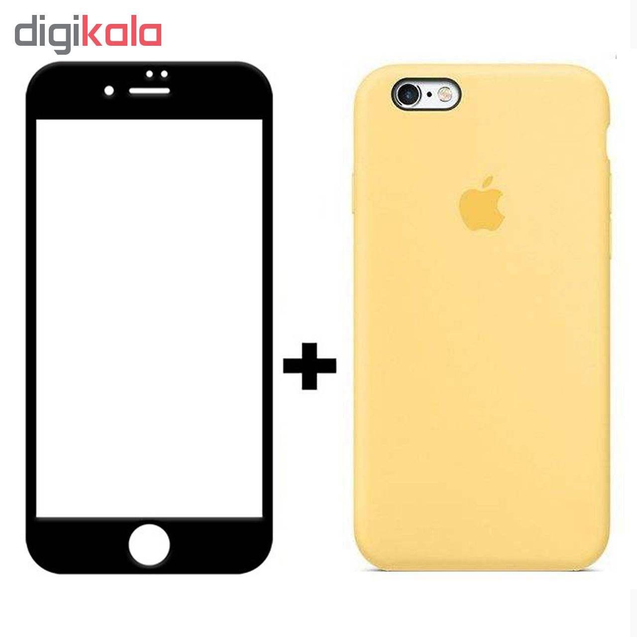 کاور سیلیکونی مدل SlC مناسب برای گوشی موبایل اپل آیفون 6/6s  به همراه محافظ صفحه نمایش 5D main 1 2