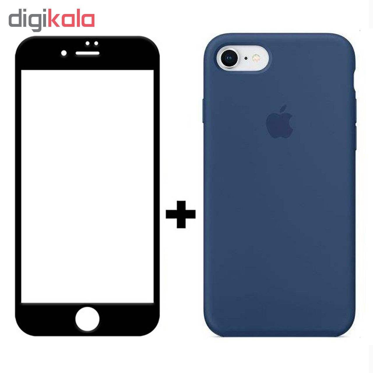 کاور سیلیکونی مدل SlC مناسب برای گوشی موبایل اپل آیفون 6/6s  به همراه محافظ صفحه نمایش 5D main 1 4