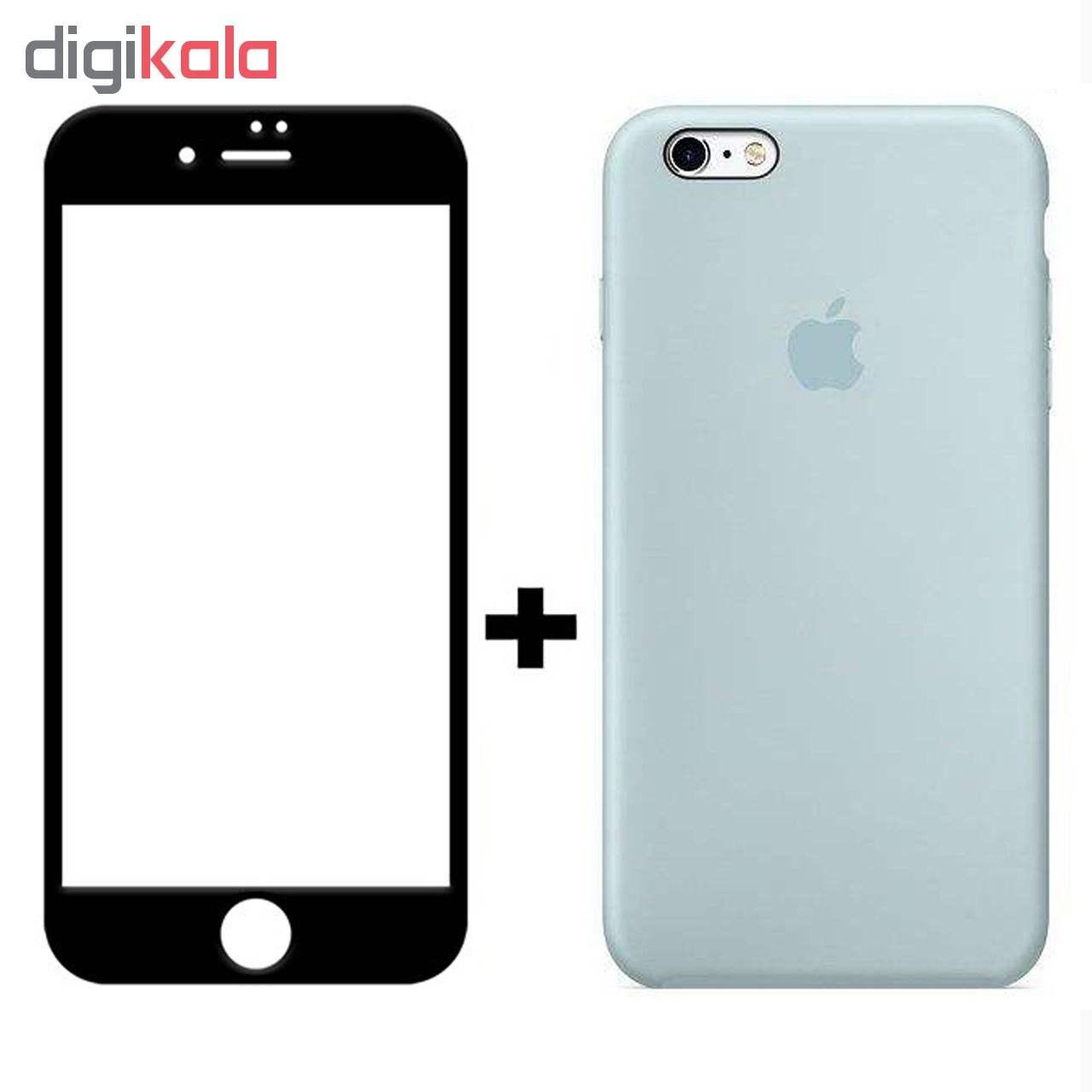 کاور سیلیکونی مدل SlC مناسب برای گوشی موبایل اپل آیفون 6/6s  به همراه محافظ صفحه نمایش 5D main 1 5