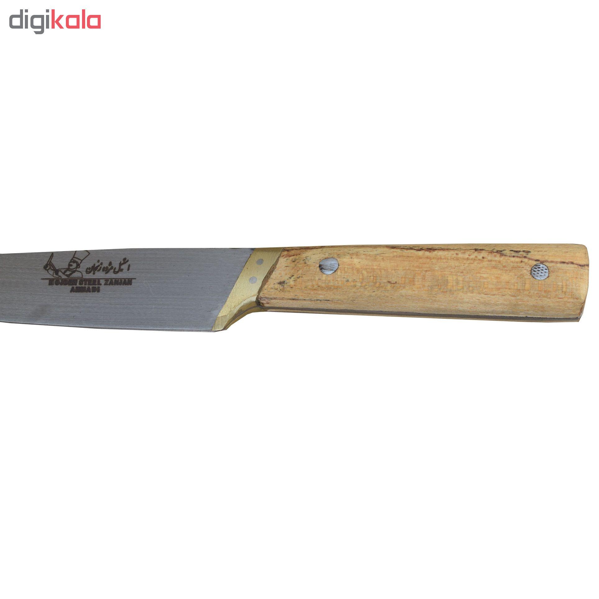 چاقوی آشپزخانه استیل مژده زنجان مدل AK04