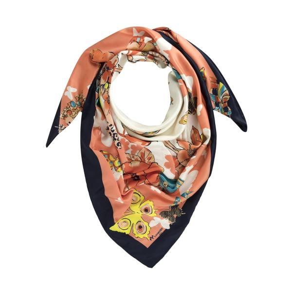 روسری ساتن ابریشم طرح دار کد lo.07