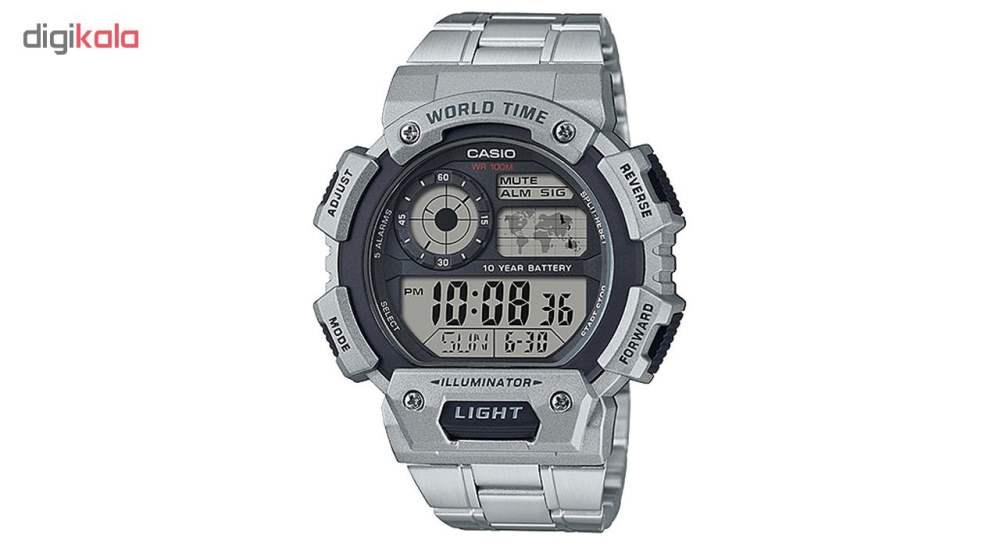 کد تخفیف                                      ساعت مچی دیجیتالی مردانه کاسیو مدل AE-1400WHD-1AVDF