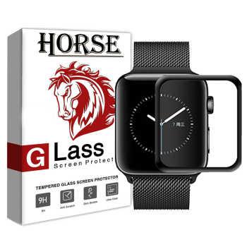 محافظ صفحه نمایش گلس 5D هورس مدل FAG مناسب برای برای اپل واچ سایز 38 میلی متر