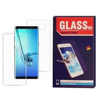 محافظ صفحه نمایش و محافظ پشت گوشی  Hard and thick مدل f-001 مناسب برای گوشی موبایل سامسونگ Galaxy note 8