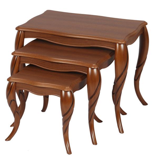میز عسلی سهیل کد 0070GR مجموعه سه عددی
