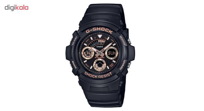 کد تخفیف                                      ساعت مچی عقربه ای مردانه  کاسیو جی شاک  مدل AW-591GBX-1A4DR