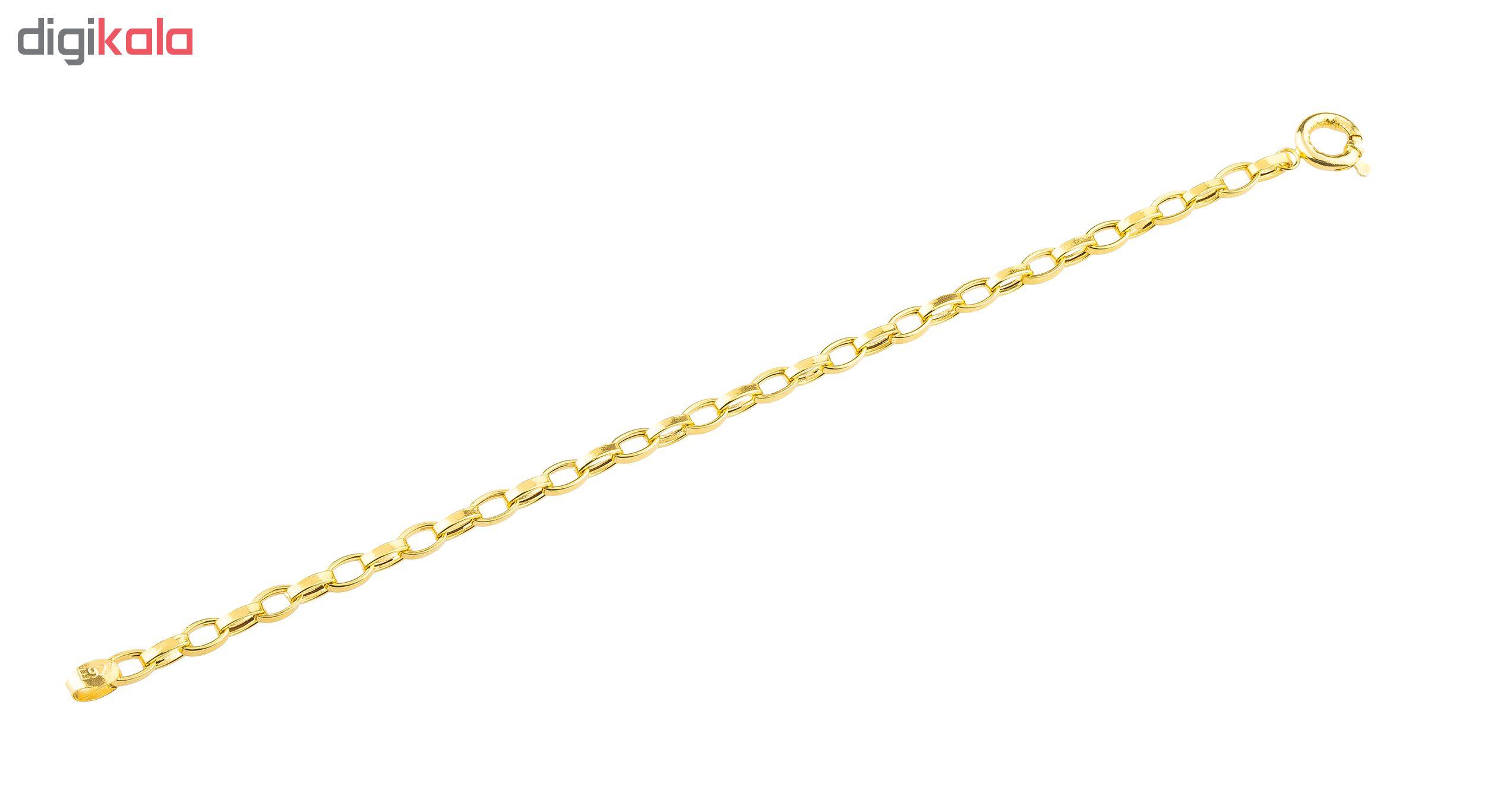 دستبند طلا 18 عیار طرح سپاهان حلقه یکسان