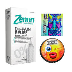 خرید                      کاندوم زنون مدل PAIN RELIEF بسته 12 عددی به همراه کاندوم کاپوت مجموعه 2 عددی