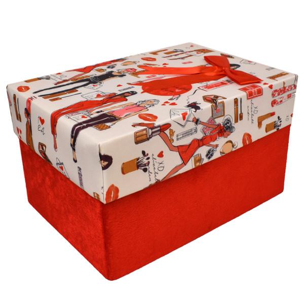 جعبه هدیه مدل مخملی کد BX013
