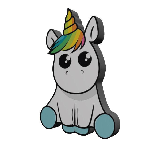 استیکر اسب تک شاخ مدل Unicorn 13