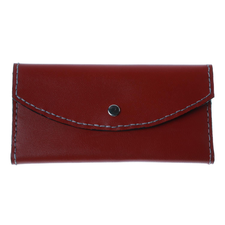 کیف پول زنانه چرم طبیعی بز دست دوز  کد 1185