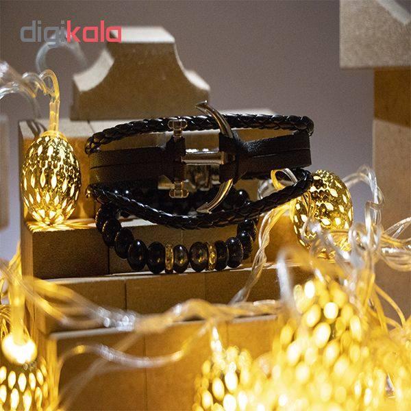 دستبند طرح لنگر مدلDK-07 بسته 2 عددی