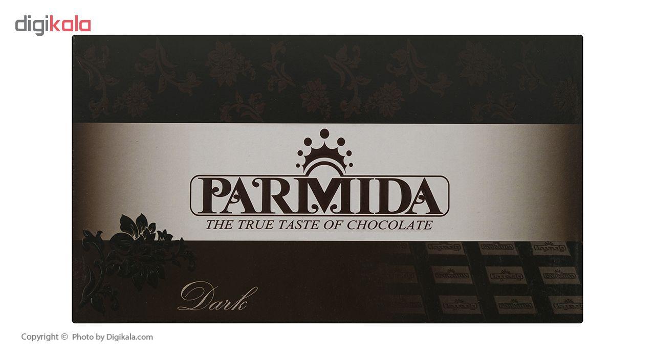 فرآورده کاکائویی تلخ پوششی پارمیدا وزن 450 گرم