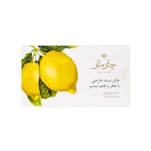 چای سیاه کیسه ای چای مانی با طعم لیمو بسته 20 عددی