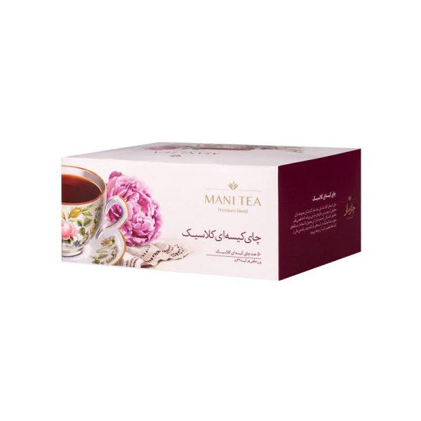 چای سیاه کلاسیک کیسه ای چای مانی بسته 50 عددی