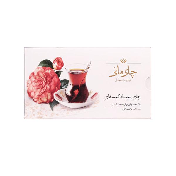 چای سیاه بهاره کیسه ای چای مانی بسته 25 عددی