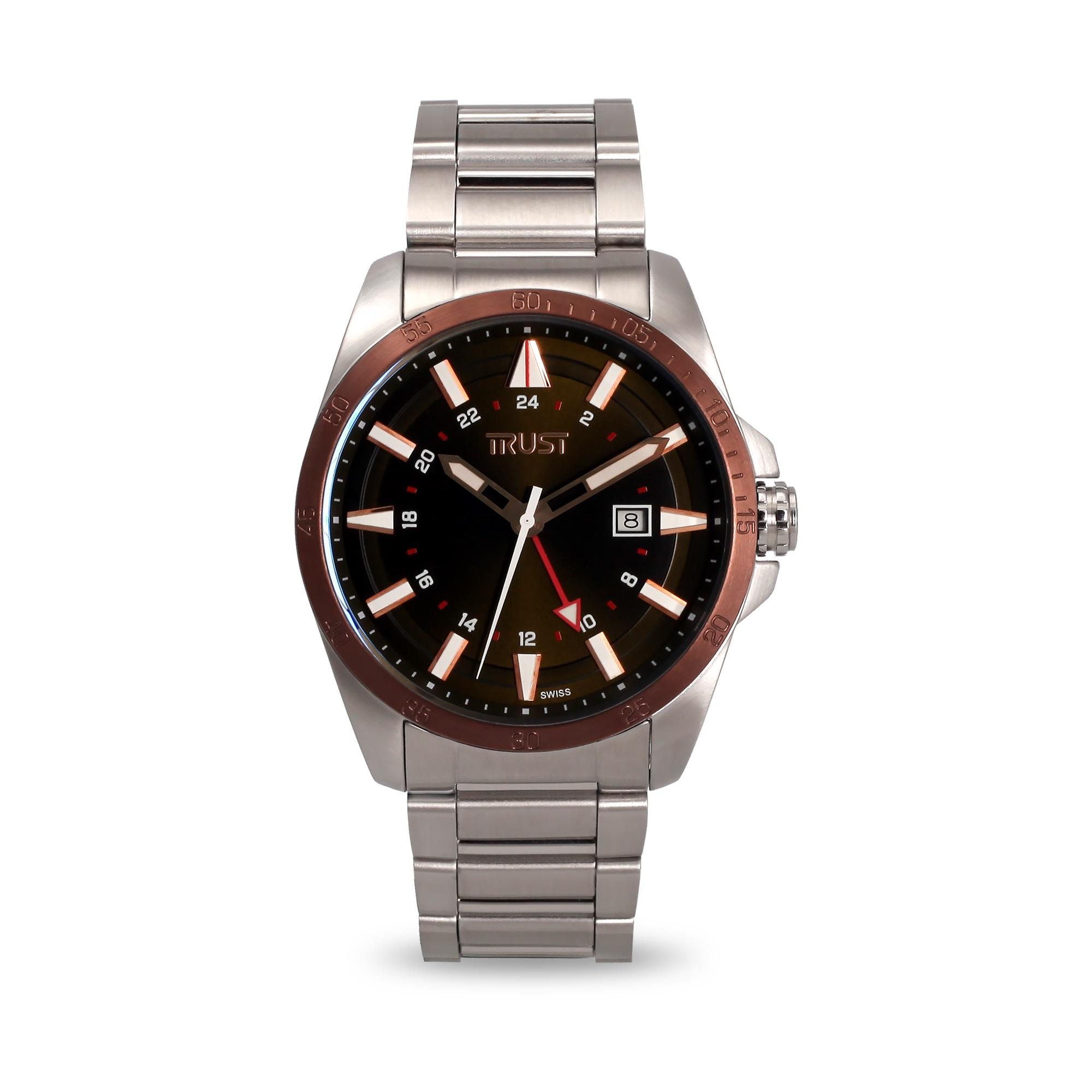 ساعت مچی عقربه ای مردانه تراست مدل G456LRL 13