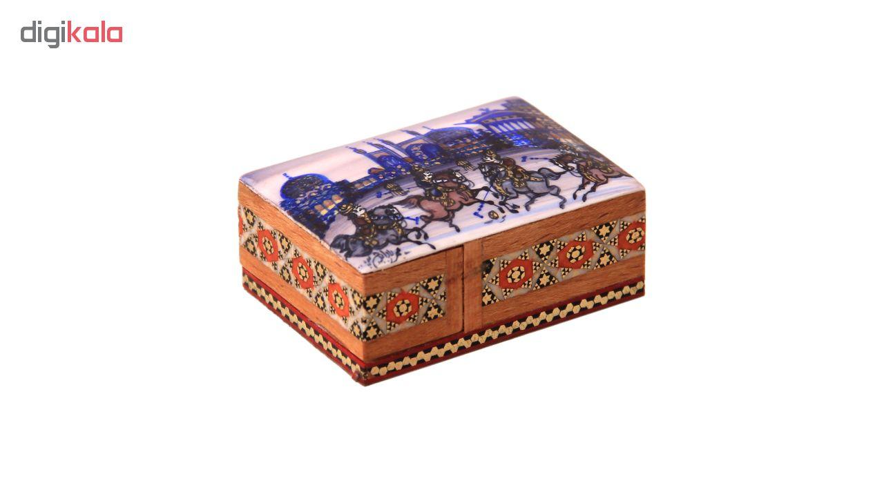 خرید                      جعبه جواهرات خاتم کاری کد 1-70172  مدل کبریتی