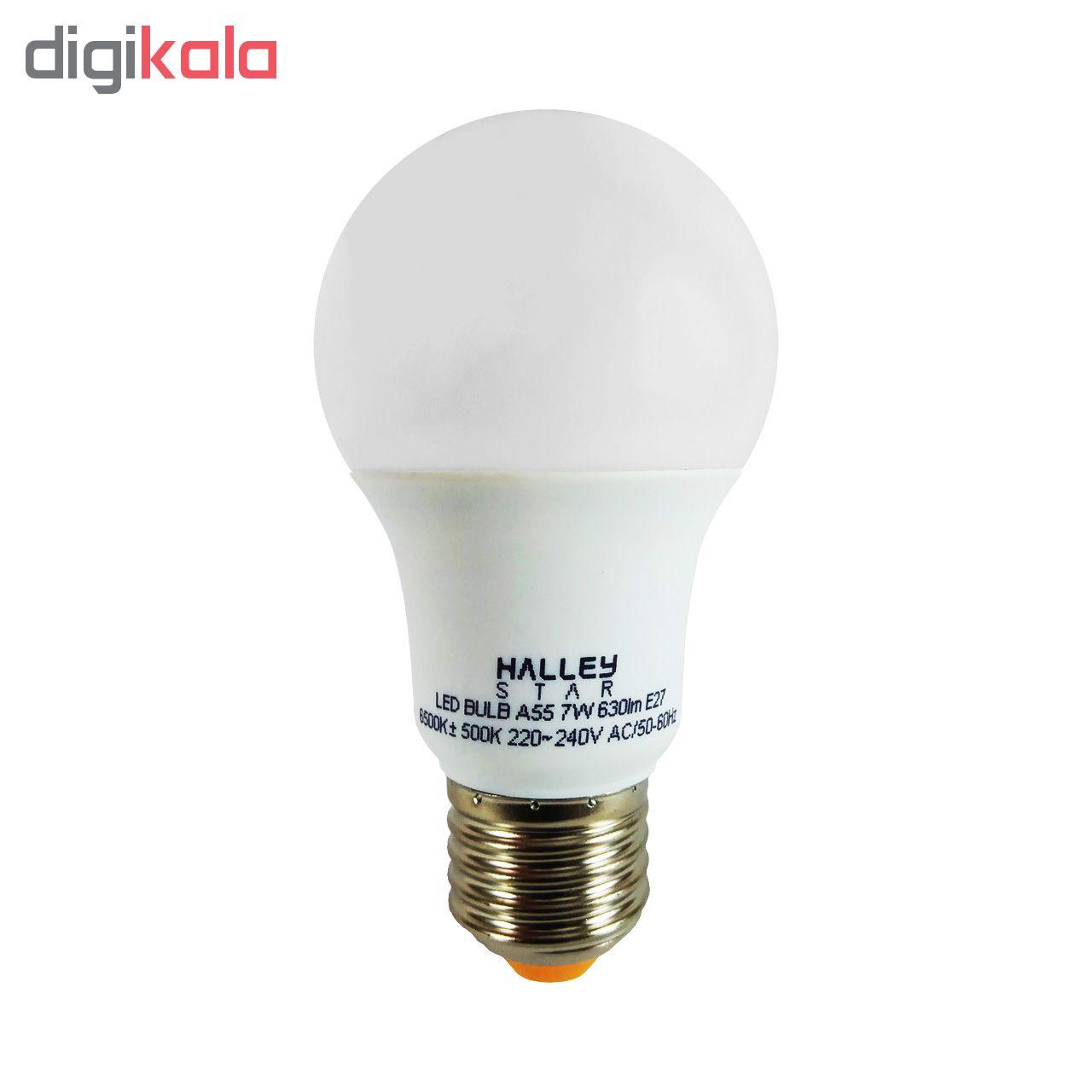 لامپ ال ای دی 7 وات هالی استار مدل A55 پایه E27