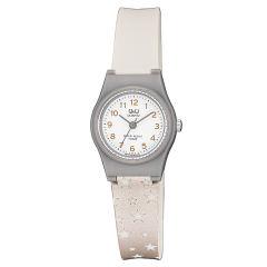 ساعت مچی عقربه ای بچگانه کیو اند کیو مدل VP47J036Y به همراه دستمال مخصوص برند کلین واچ