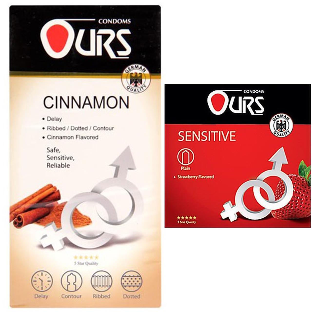 خرید                      کاندوم اورز مدل Cinnamon بسته 12 عددی به همراه کاندوم اورز مدل Sensitive بسته 3 عددی