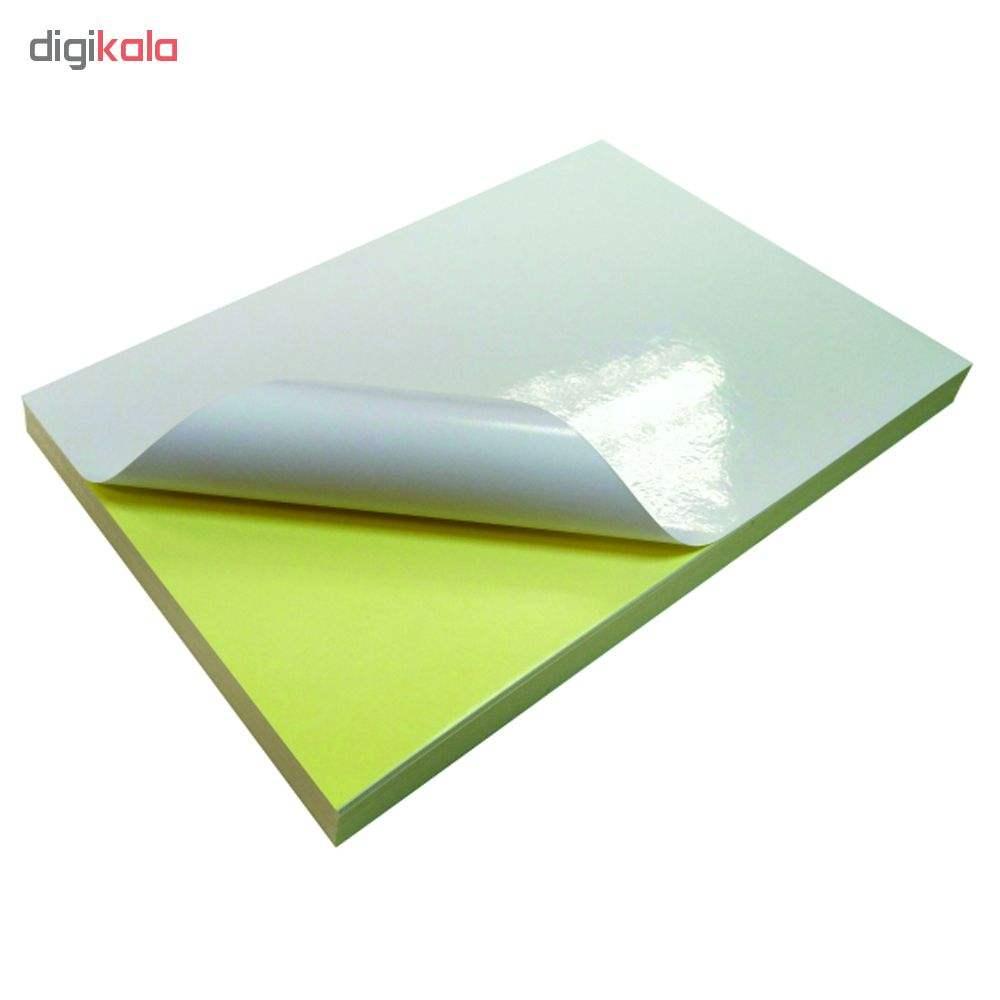 کاغذ پشت چسبدار گلاسه کد 100 سایز A4  بسته 20 عددی main 1 1