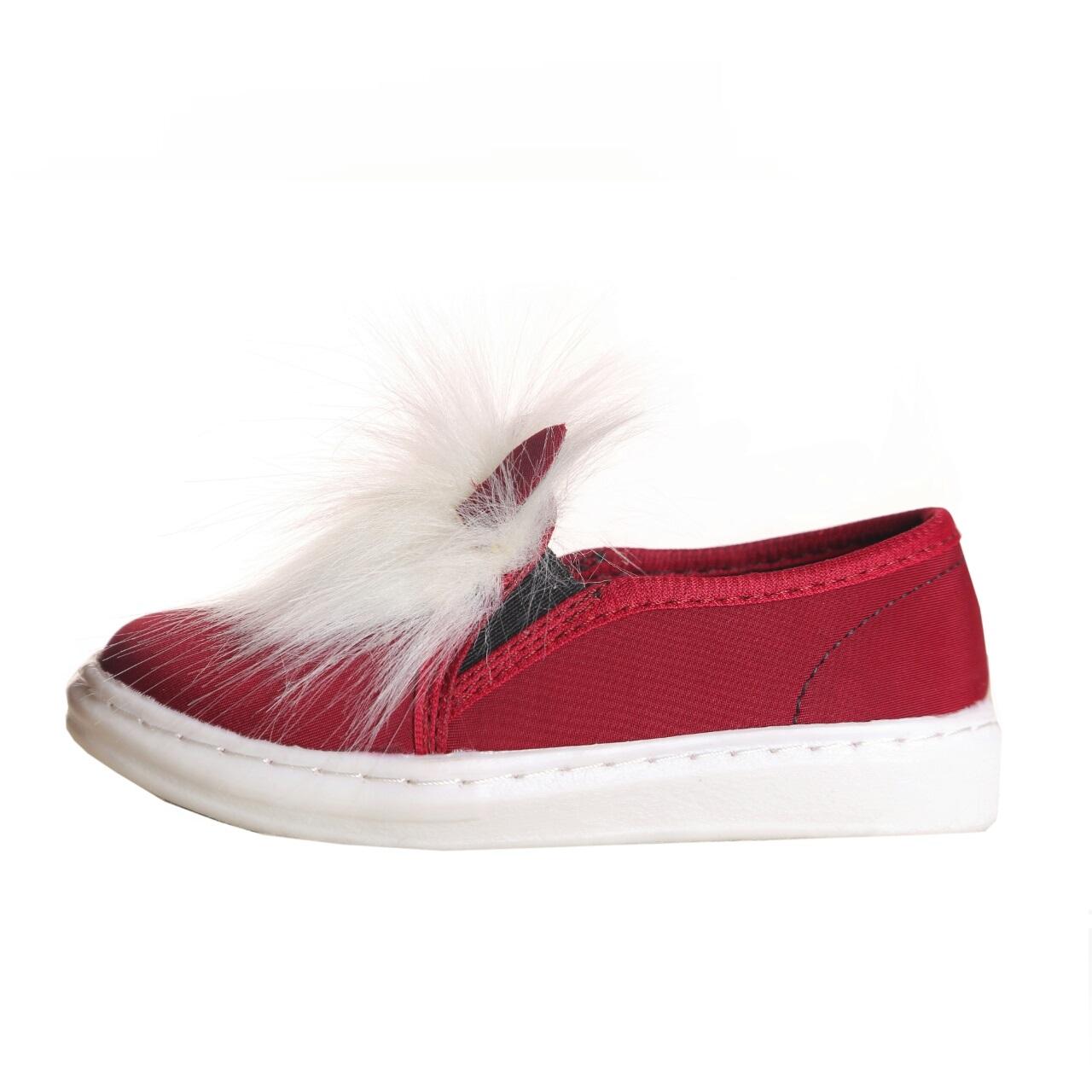 کفش بچگانه طرح خرگوش زرشکی رنگ