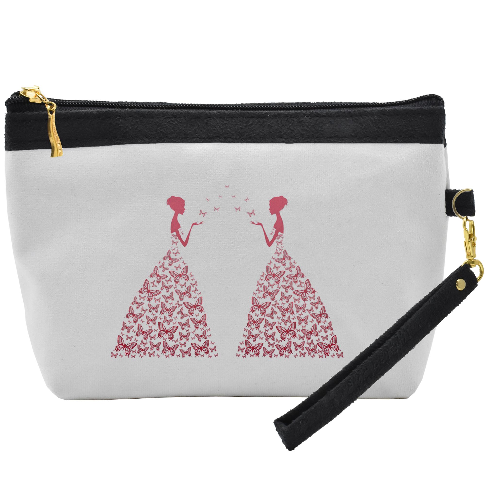 قیمت کیف لوازم آرایشی طرح ButterFly Woman کد C25