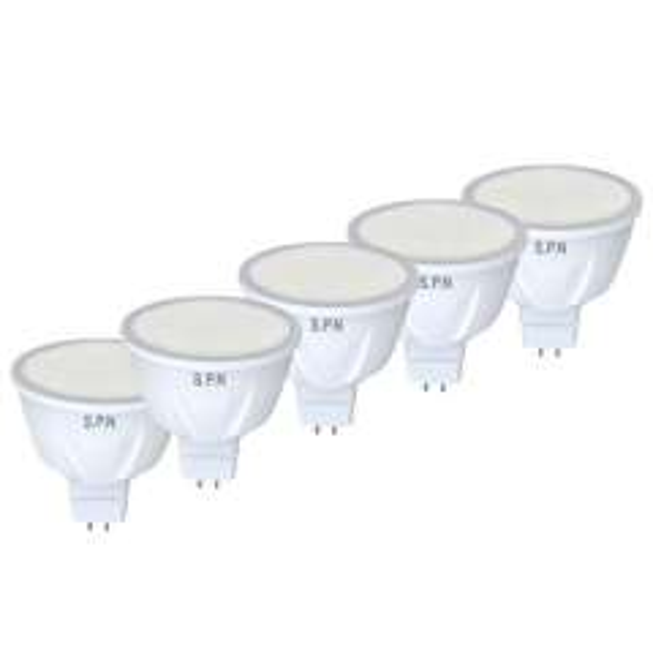 لامپ ال ای دی 5 وات اس پی ان مدل par smd پایه mr16 بسته 5 عددی