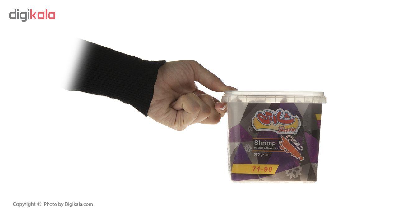 میگو آماده طبخ منجمد شارین سایز 90-71 مقدار 500 گرم thumb 1
