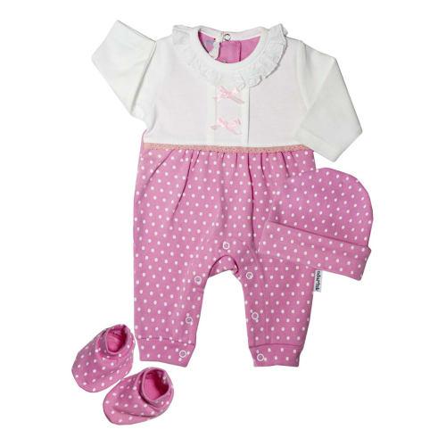 ست سه تکه لباس نوزادی آدمک مدل 133801P