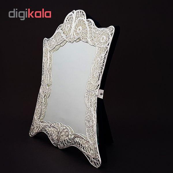 خرید                      آینه ملیله طرح ترمه کد 02