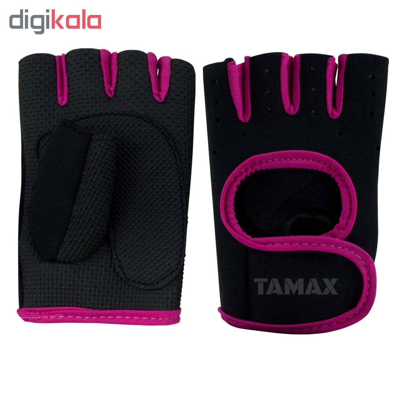 دستکش بدنسازی زنانه تامکس مدل 0803-Pink main 1 1