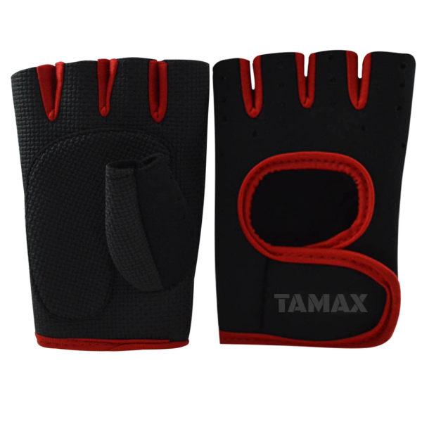 دستکش بدنسازی زنانه تامکس مدل Red-0801