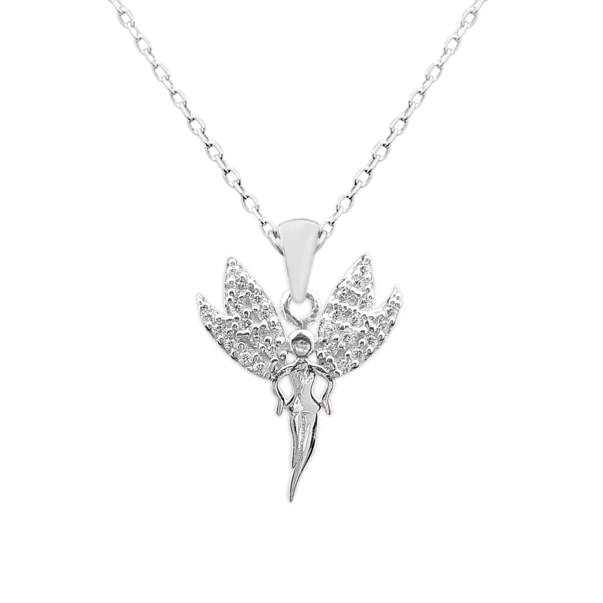 گردنبند نقره طرح فرشته کد FL 211