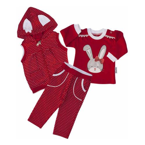 ست سه تکه لباس نوزادی آدمک طرح خرگوش 263300R