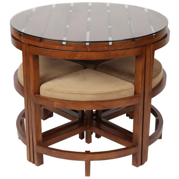 میز و صندلی ناهارخوری سهیل مدل Circle