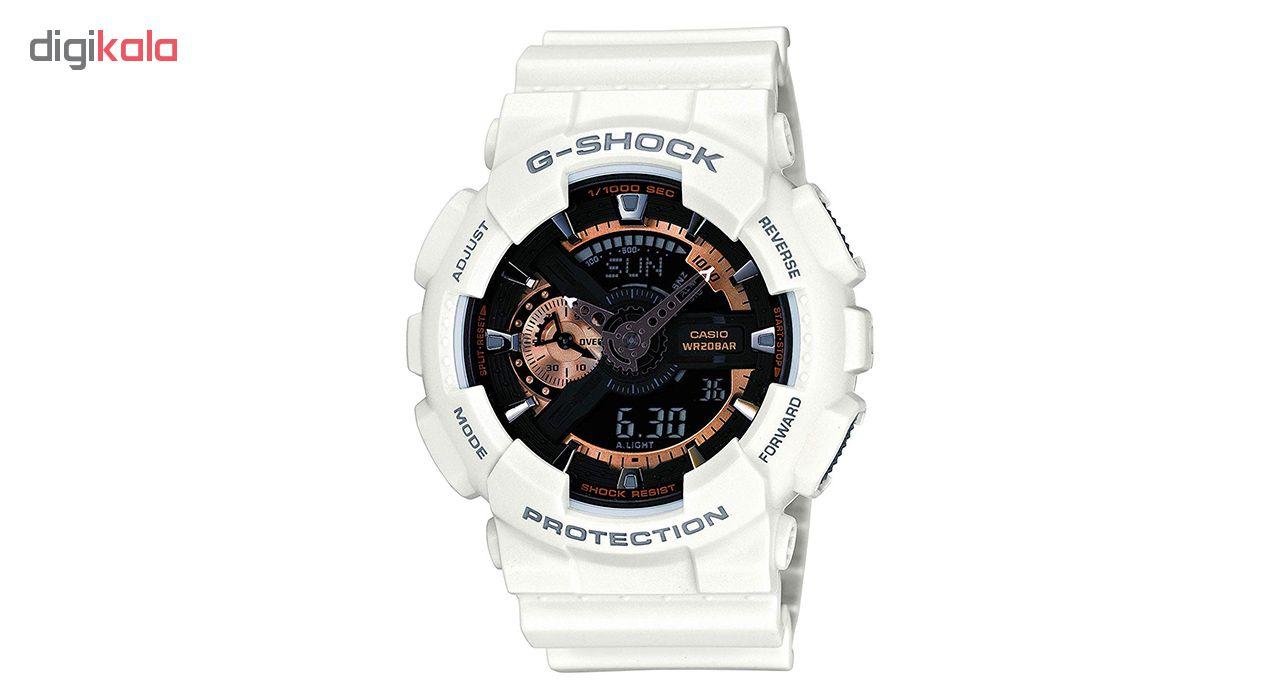 کد تخفیف                                      ساعت مچی عقربه ای مردانه کاسیو جی شاک مدل GA-110RG-7ADR